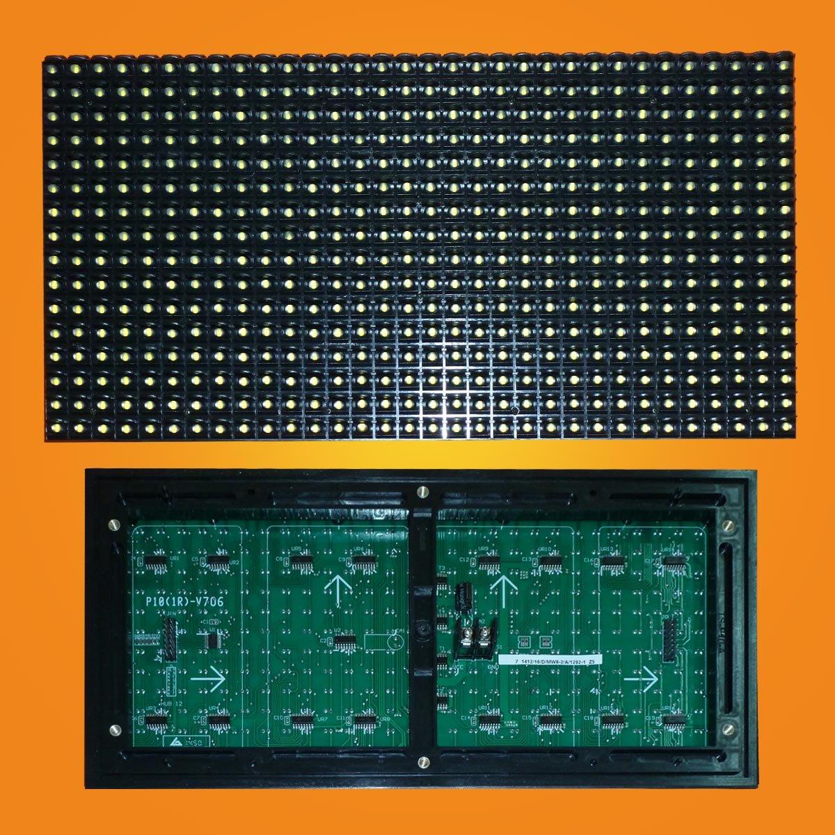 Led модуль желтый P10 32*16 YELLOW для наружного применения (outdoor).