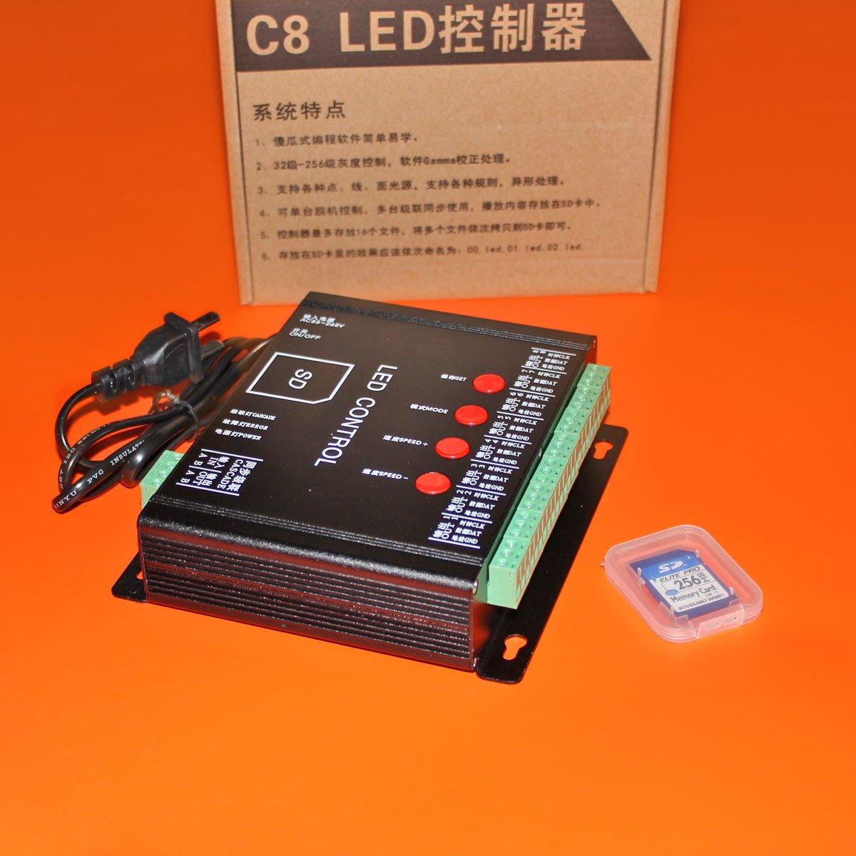 Контроллер для IC светодиодных модулей RGB C8 (8192px)