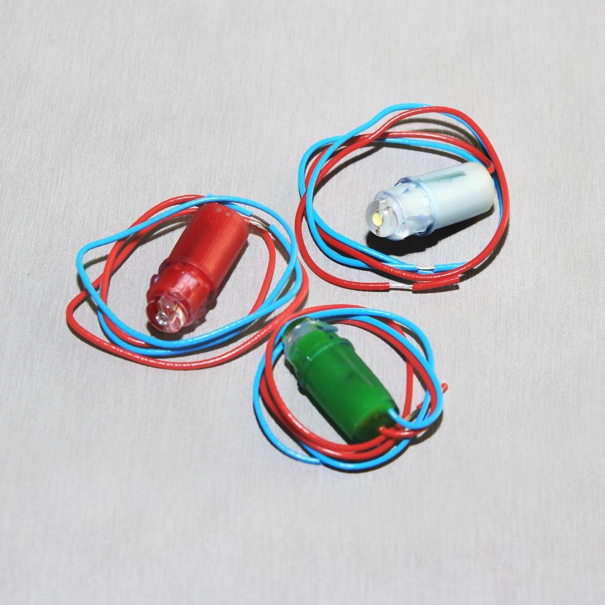 Микростробы 12В красный, белый, зеленый